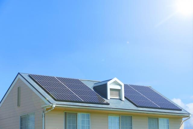 太陽光発電の家の写真